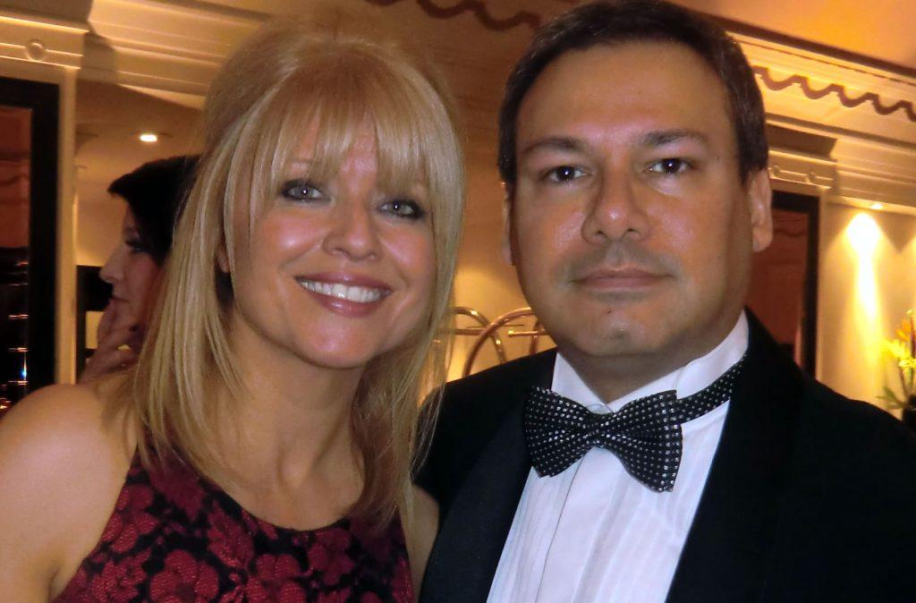 Photo: Christine Talbot and me.
